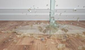 Water op de vloer