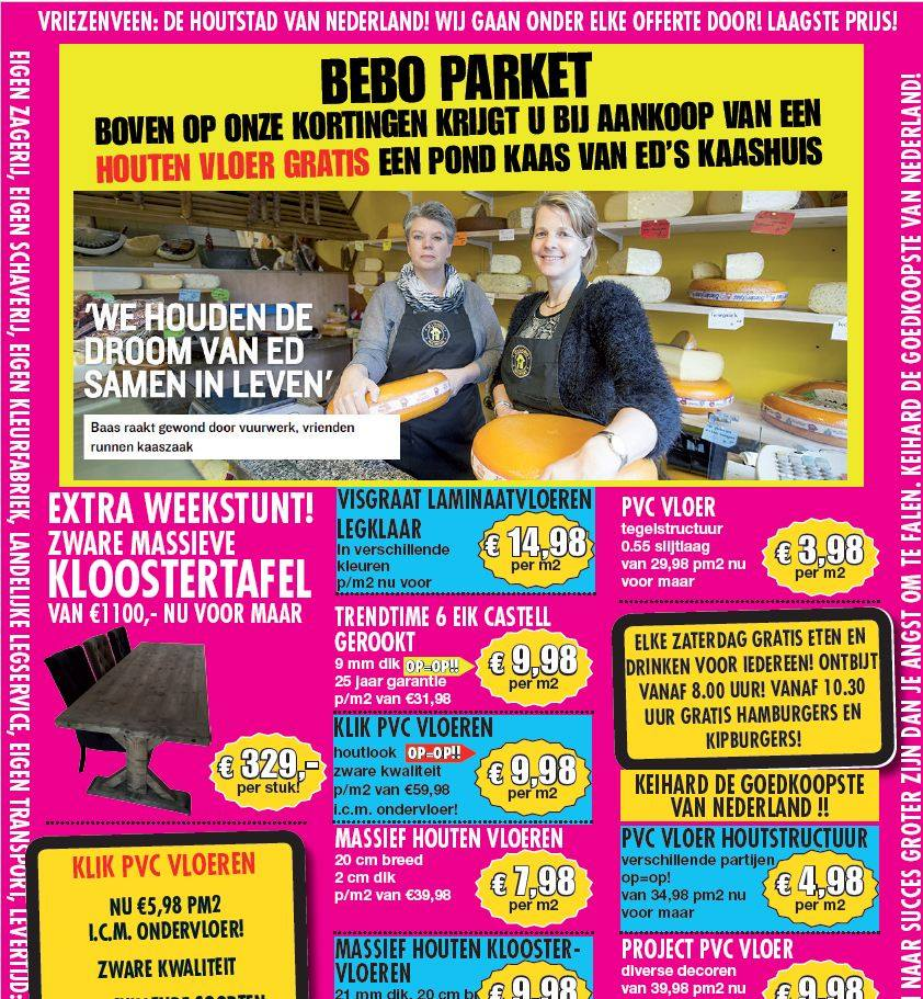 Advertentie Bebo Parket