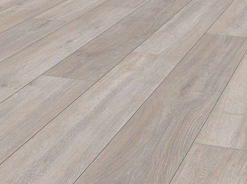 licht eiken laminaat brede plank met v groef en voelbare houtstructuur 8 millimeter dik