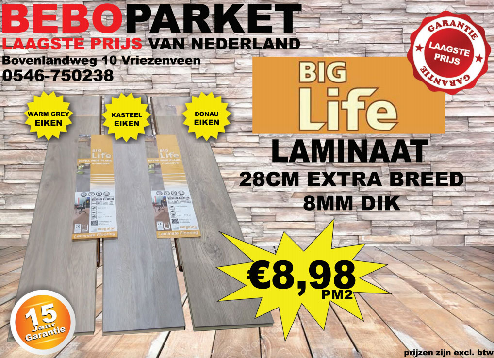 Big life laminaat bebo parket
