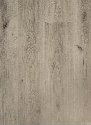 grijs laminaat brede plank zonder v groef en voelbare houtstructuur 8 millimeter dik